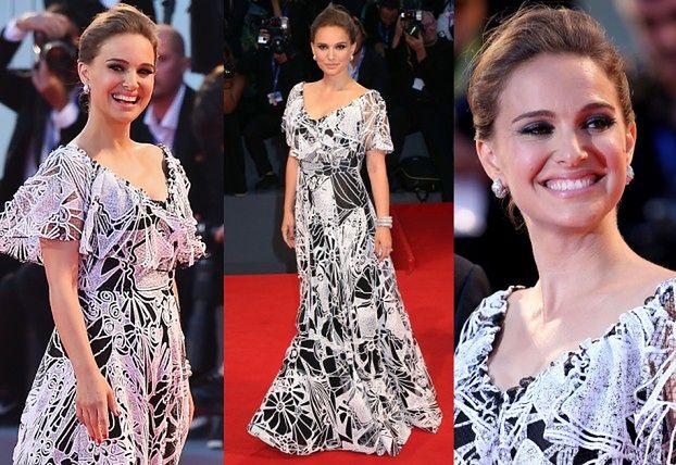 Elegancka Natalie Portman na czerwonym dywanie w Wenecji (ZDJĘCIA)