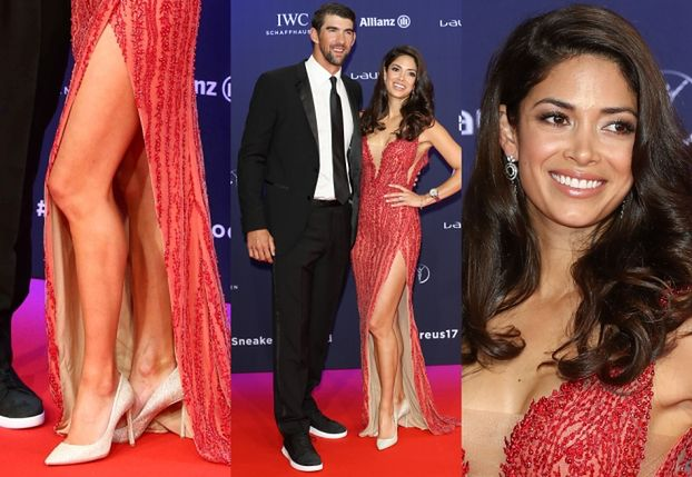 Noga żony Michaela Phelpsa na czerwonym dywanie (ZDJĘCIA)