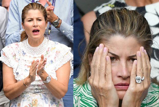 Żona Rogera Federera w różnych stylizacjach dopinguje męża na Wimbledonie (FOTO)
