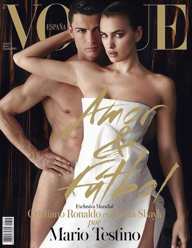 "NAGI RONALDO na okładce ""Vogue'a""! (FOTO)"