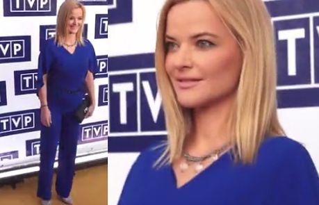 Monika Zamachowska w niebieskim kostiumie!
