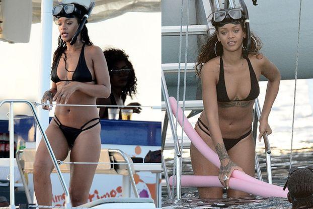 Rihanna nurkuje na Barbadosie!