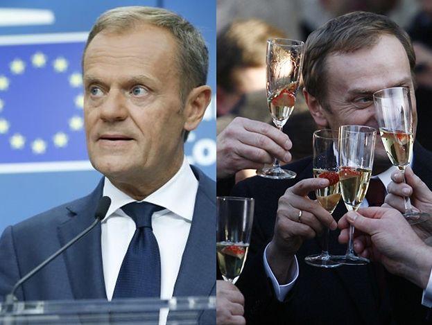Donald Tusk wydał PÓŁ MILIONA na szampana!