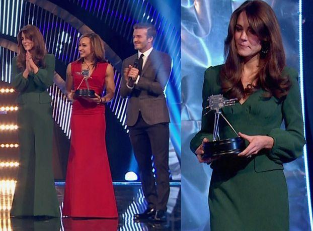 Piękna Kate w zielonej sukni (ZDJĘCIA)