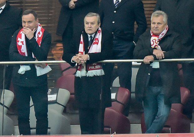 """""""Trzech tenorów"""" na meczu Polska-Armenia (ZDJĘCIA)"""