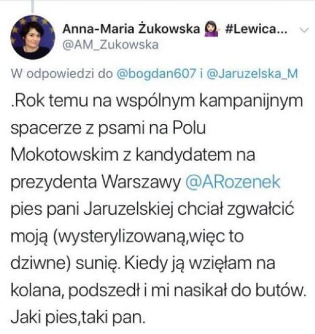 PSIA SEKS-AFERA NA LEWICY: pies Moniki Jaruzelskiej chciał ZGWAŁCIĆ suczkę kandydatki SLD