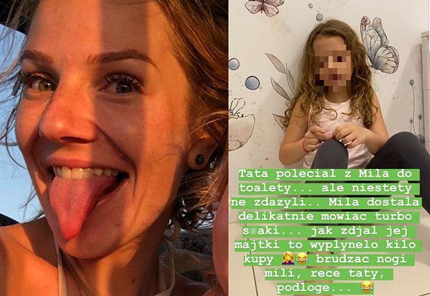 """Hanna Zborowska-Neves śmieje się z... rozwolnienia córki na Instagramie: """"Dostała TURBOS*AKI, WYPŁYNĘŁO KILO KUPY"""""""