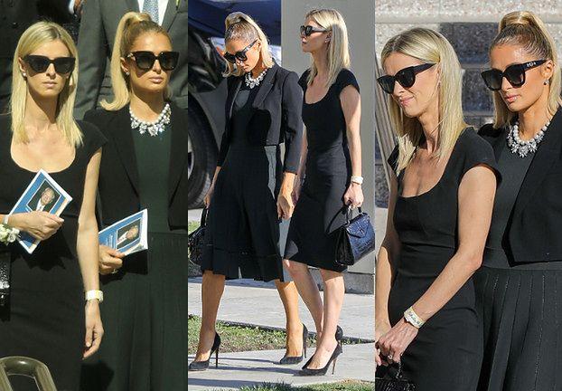 Smutne Paris i Nicky Hilton na pogrzebie dziadka (ZDJĘCIA)