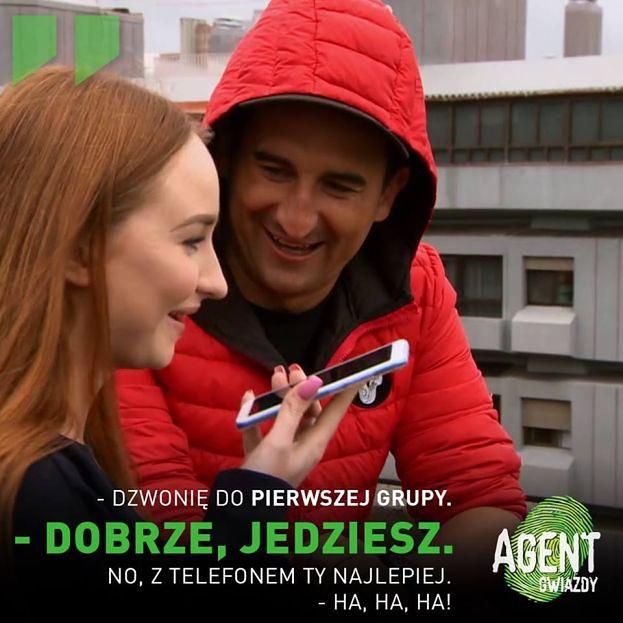 """Trzeci odcinek """"Agenta"""": Misiek Koterski obwinia Angelikę Muchę za nieudane zadanie: """"No kto zawalił? Littlemooonster zawaliła!"""""""