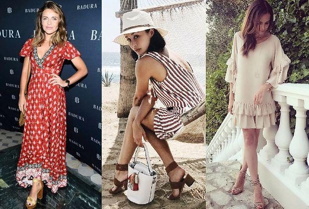 Modne brązowe sandały na słupku – trend na lato