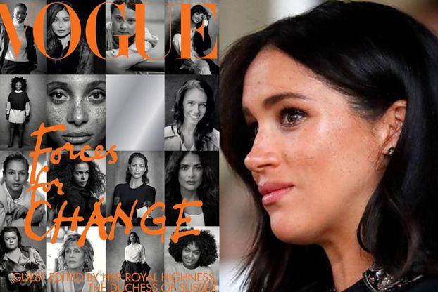 """Meghan Markle skrytykowana za wrześniowego """"Vogue'a"""". Zarzucono jej hipokryzję i agitację polityczną..."""