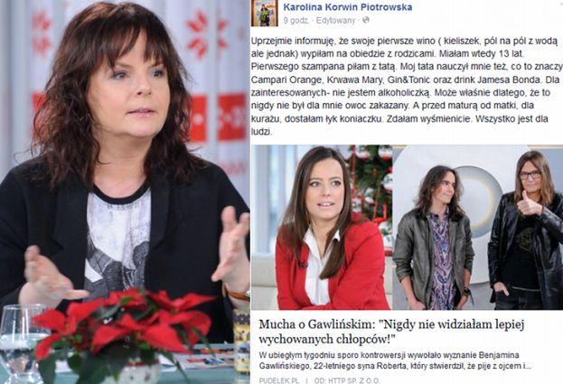 """Korwin-Piotrowska: """"Pierwsze wino wypiłam z rodzicami"""""""
