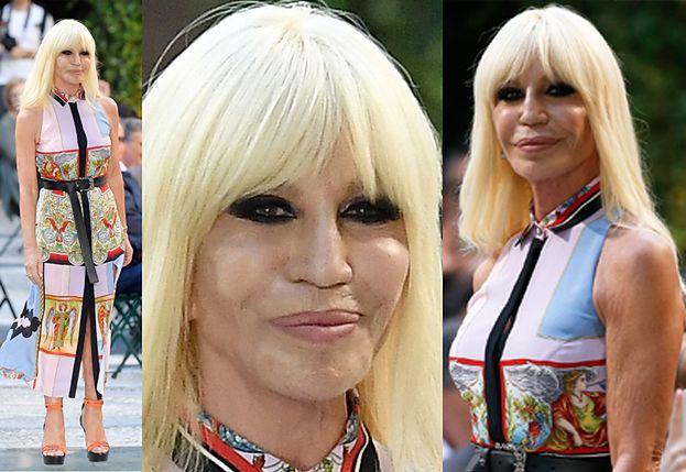 62-letnia Donatella Versace gwiazdą męskiego tygodnia mody w Mediolanie (ZDJĘCIA)