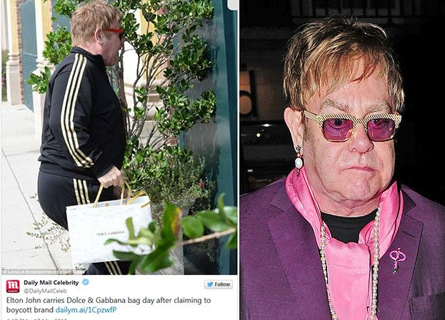 Elton John był na zakupach w... butiku Dolce&Gabbana! (FOTO)