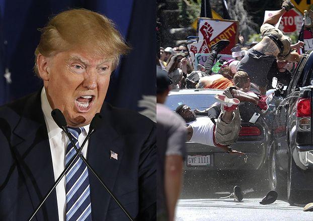 """Po naciskach Trump potępił atak terrorystyczny w Charlottesville. """"Rasizm jest ZŁEM!"""""""