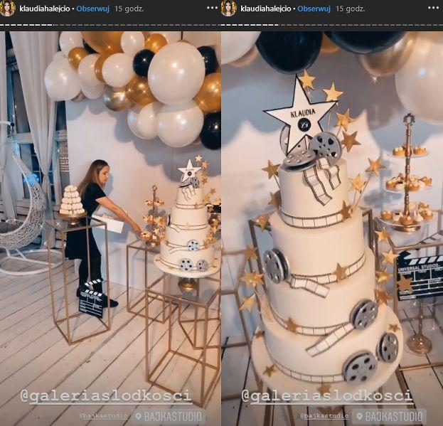 Gwiazdorskie urodziny Klaudii Halejcio: znani goście, czteropoziomowy tort i dwie kreacje (FOTO)