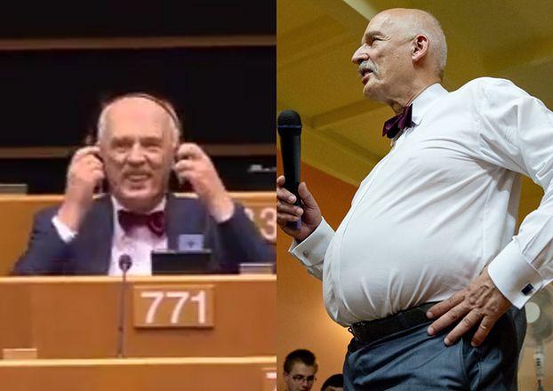 """Korwin-Mikke w Parlamencie Europejskim: """"Kobiety muszą zarabiać mniej niż mężczyźni, bo są SŁABSZE i MNIEJ INTELIGENTNE"""""""