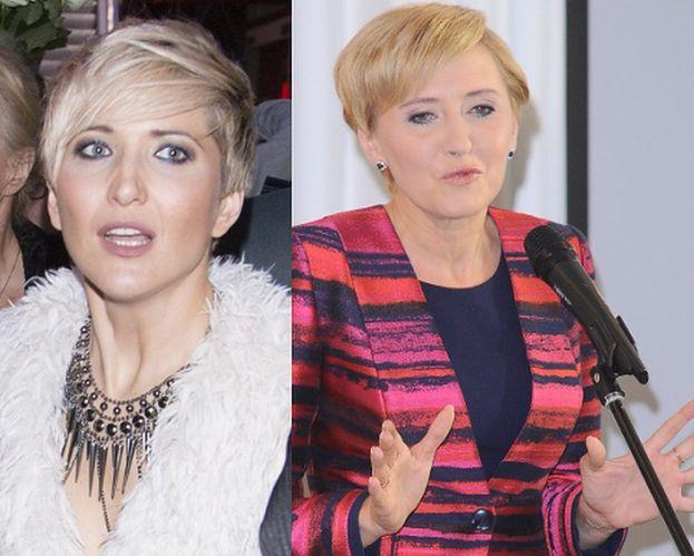 """Magda Steczkowska chce przedłużyć włosy. """"Ma dość porównań do Agaty Dudy"""""""