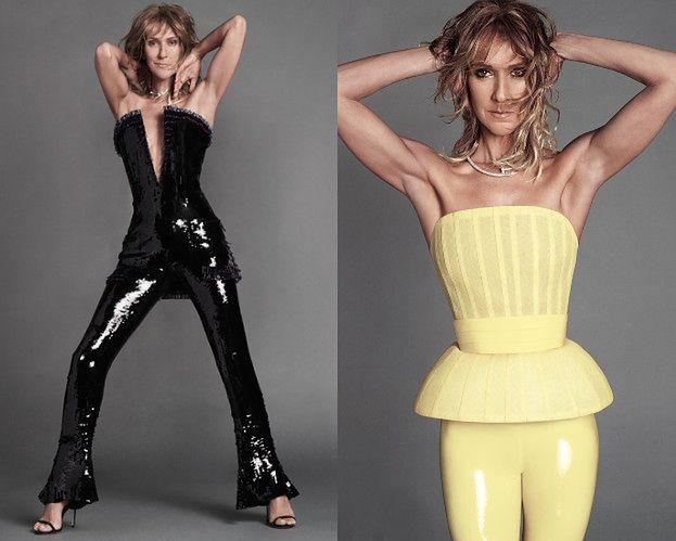 Potargana Celine Dion eksponuje pachy w nowej sesji