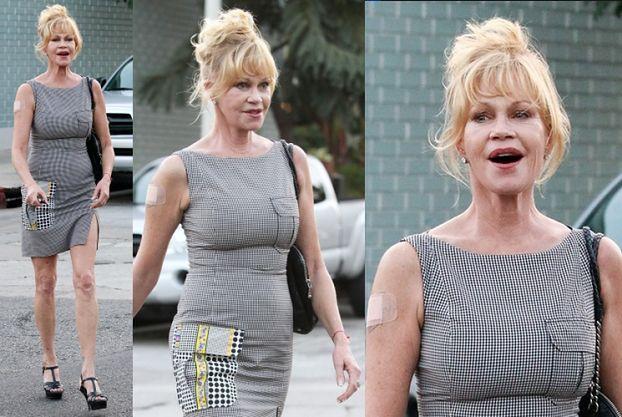 Melanie Griffith w drodze na lunch... (ZDJĘCIA)