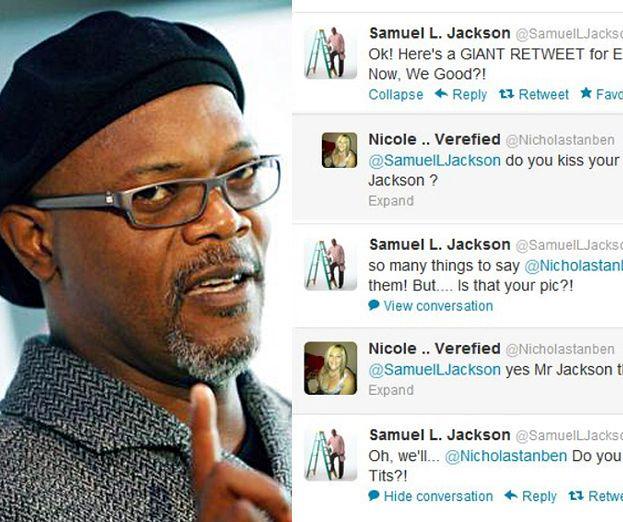 """Samuel L. Jackson do fanki: """"KARMISZ TYMI CYCKAMI BEZDOMNYCH?"""""""