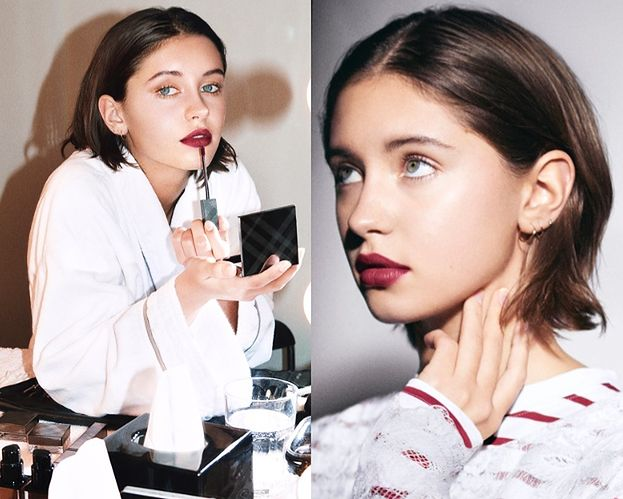 Córka Jude'a Lawa w kampanii Burberry