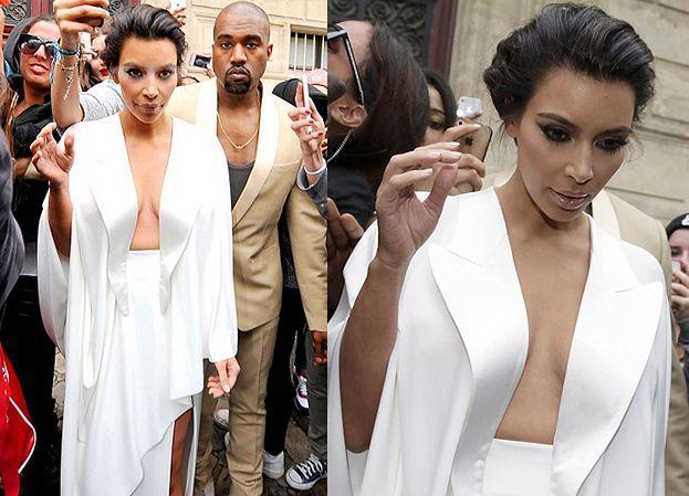 Kim i Kanye w Wersalu! Pokazała za dużo? (ZDJĘCIA)