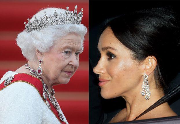 """Królowa zabroniła Meghan Markle pożyczać niektórych swoich klejnotów! """"Dostanie to, co uznam za stosowne"""""""