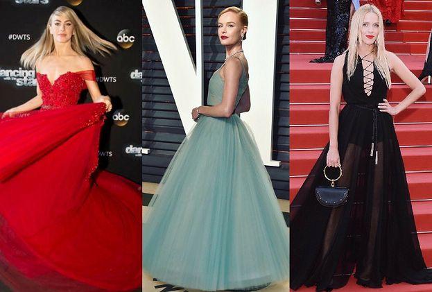 Piękne sukienki z tiulem - 5 propozycji gwiazd