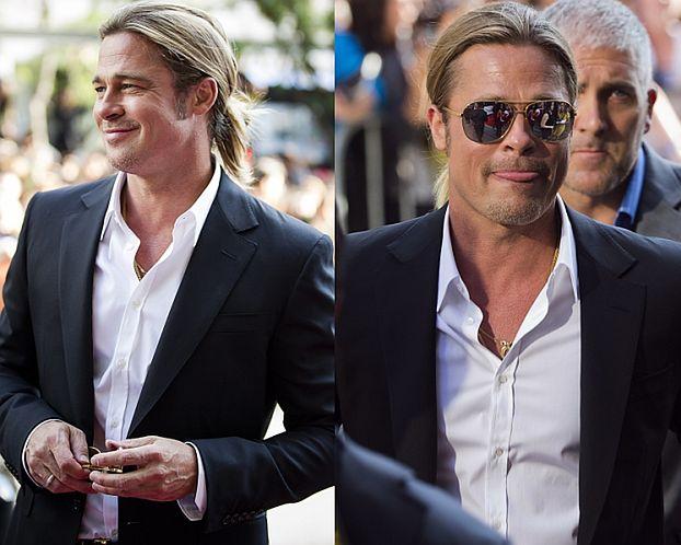 Długowłosy Brad Pitt na premierze!