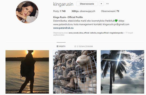 Kinga Rusin USUNĘŁA WSZYSTKIE WPISY o Rozenek!