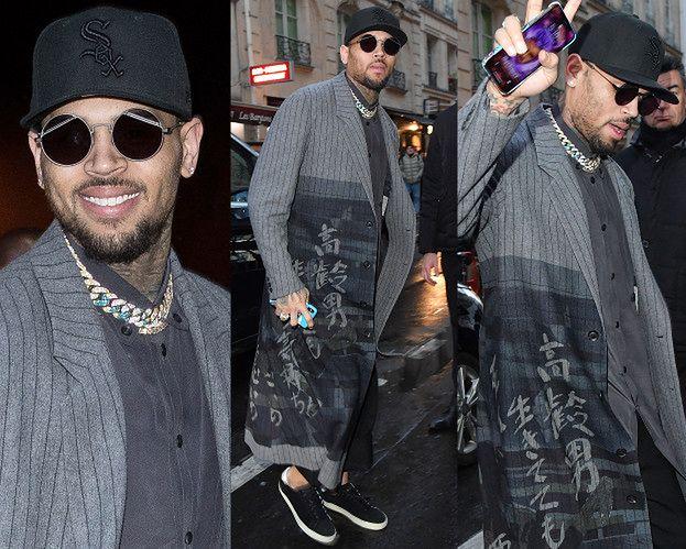 Wystylizowany Chris Brown lansuje się na tygodniu mody