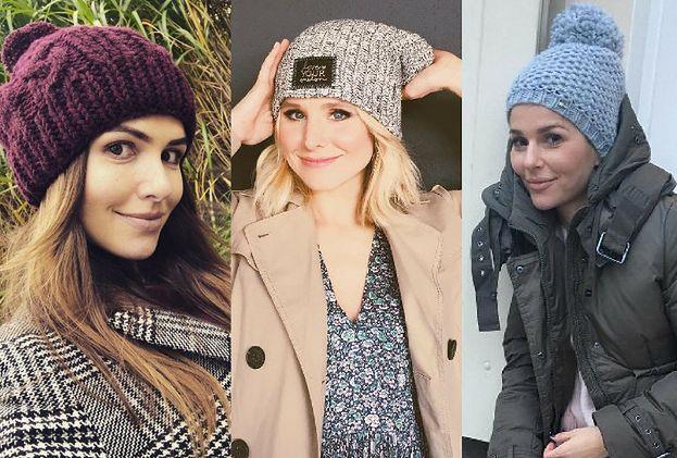 Stylowe czapki robione na drutach - jakie wybierają celebrytki?
