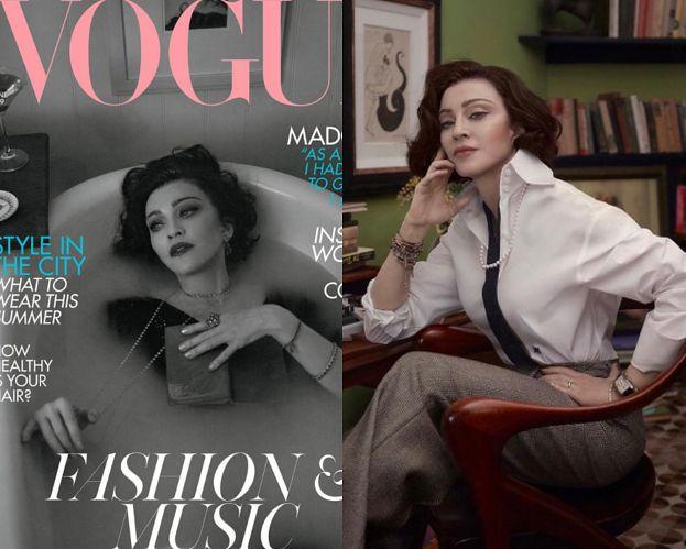 """Kusząca Madonna pluska się w wannie na okładce brytyjskiego """"Vogue'a"""""""