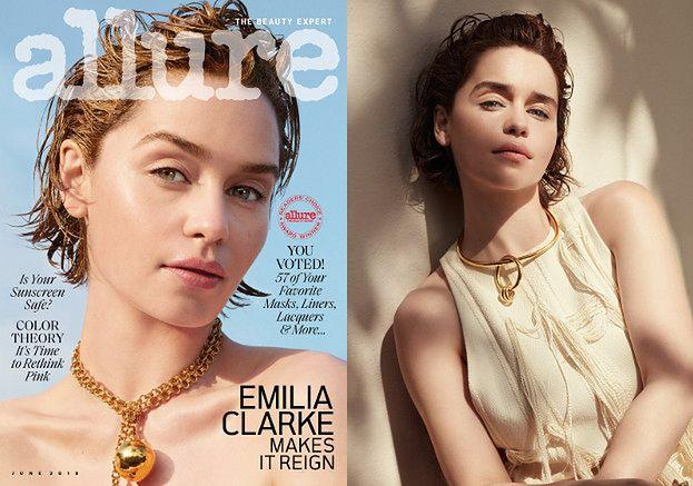"""Emilia Clarke prezentuje urodowe trendy w sesji dla """"Allure"""""""