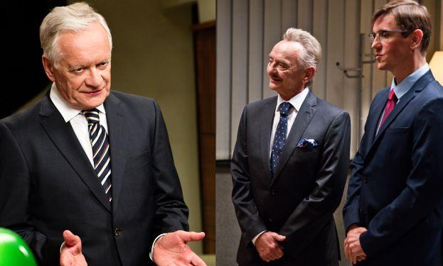 """Mamy zdjęcia z drugiego sezonu """"Ucha Prezesa"""". Jak Andrzej Seweryn wypadnie w roli Jarosława Gowina?"""