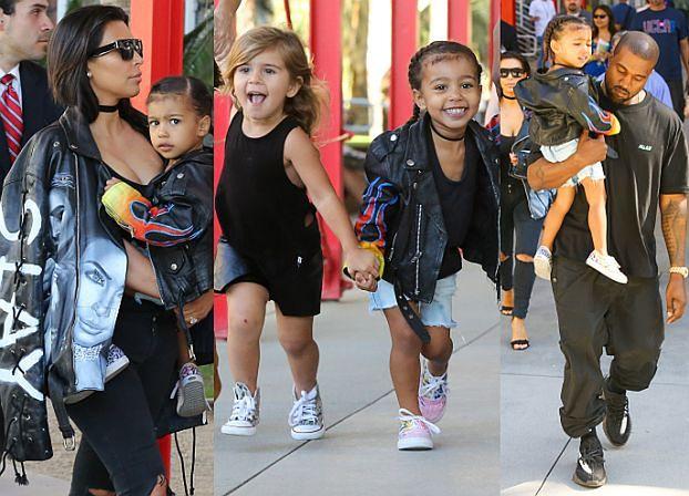 Kim, Kanye, North, Kendal i Penelope wychodzą z muzeum (ZDJĘCIA)