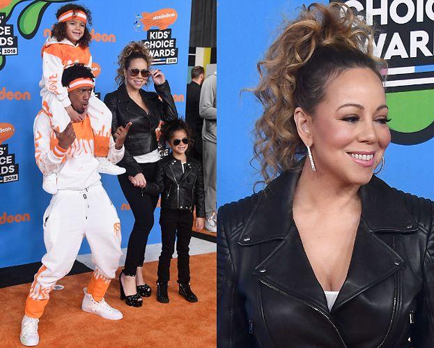 Mariah Carey integruje się z rodziną na ściance
