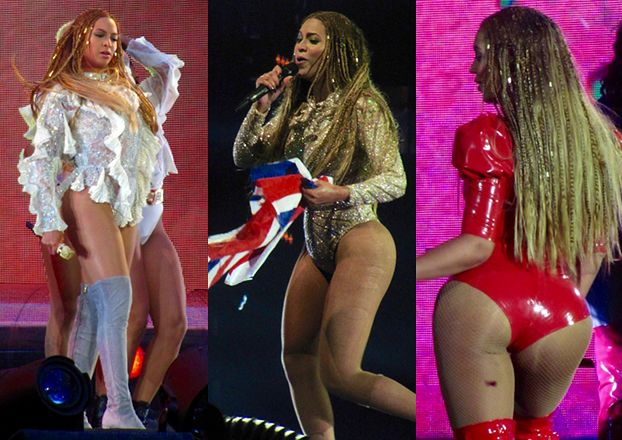 Beyonce w seksownych strojach na scenie w Londynie (ZDJĘCIA)