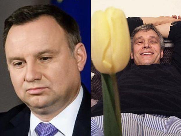 """Żebrowski śmieje się z Dudy na Instagramie: """"NIEZŁA LAMPA!"""""""