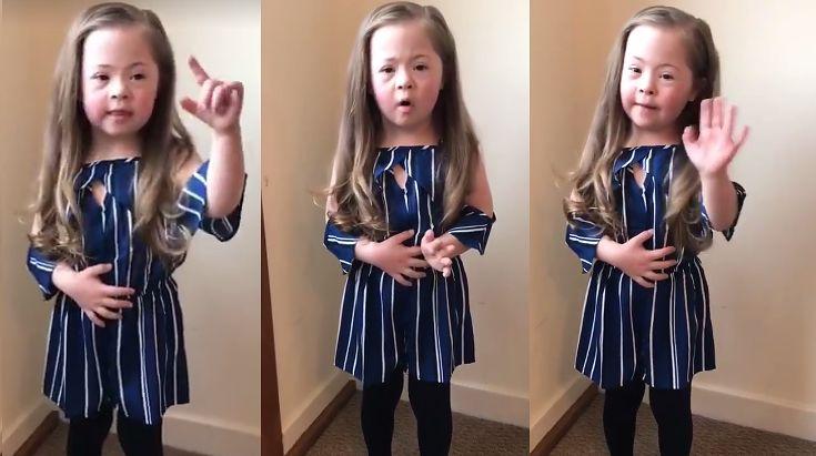 """WZRUSZAJĄCY APEL 5-letniej Chloe z zespołem Downa: """"Proszę, załóżcie dwie skarpetki nie do pary"""""""