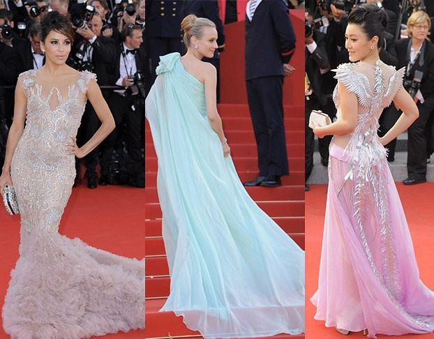 Suknie z długimi trenami w Cannes! (ZDJĘCIA)