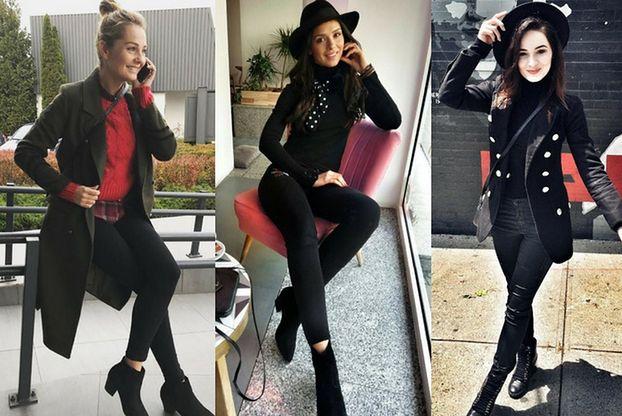 Z czym celebrytki noszą czarne jeansy rurki?