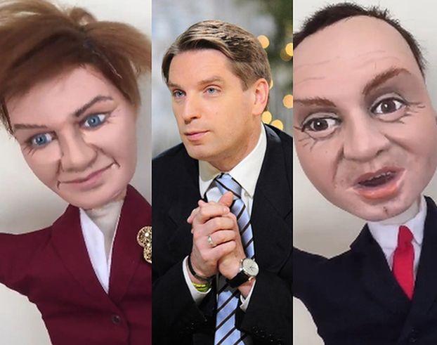 """Tomasz Lis POKAZUJE KUKŁY Szydło i Dudy: """"Andrzejku, tu prezes, podpiszesz wszystkie ustawy, ZROZUMIANO?"""""""
