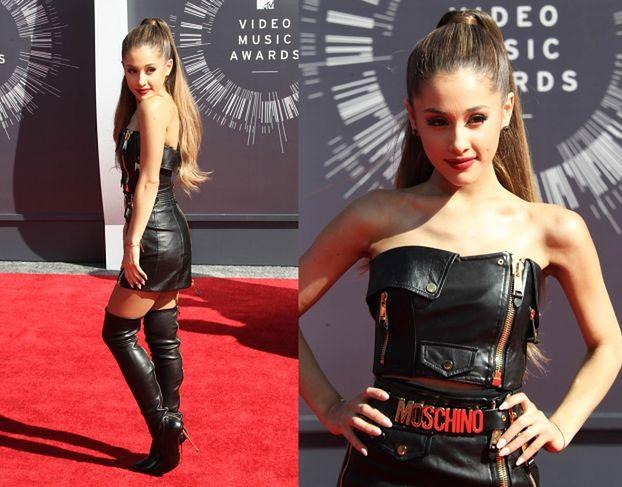 Ostra Ariana Grande pozuje na imprezie MTV!