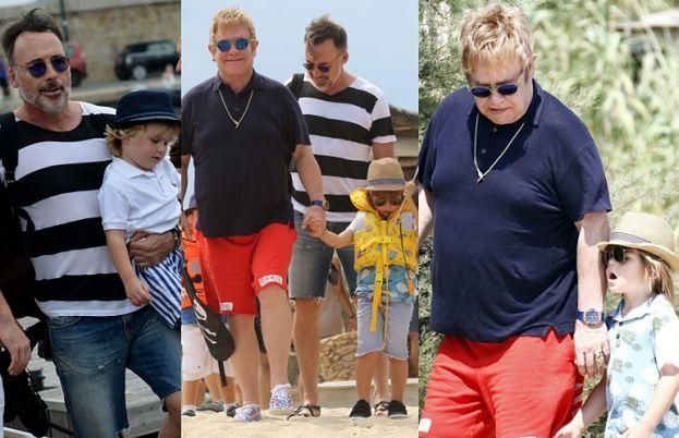 Elton John z mężem i synami w St. Tropez (ZDJĘCIA)
