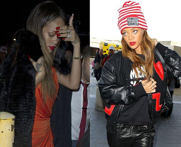 Rihanna w Walentynki BEZ BROWNA! (FOTO)