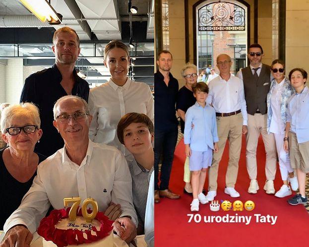 """Małgosia Rozenek świętuje całą rodziną 70. urodziny ojca: """"Był totalnie wzruszony"""""""