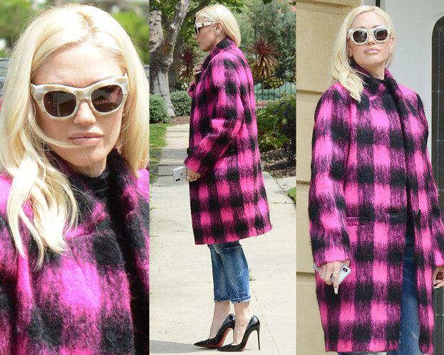 Modna Gwen Stefani idzie do kościoła w szpilkach od Louboutina