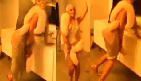 Rihanna trzęsie tyłkiem w prześwitującej sukience!